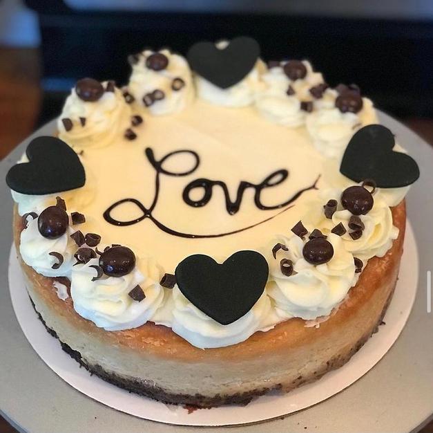 Custom expresson flavored cheesecake