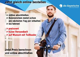 E-Scooter Versicherung die bayerische