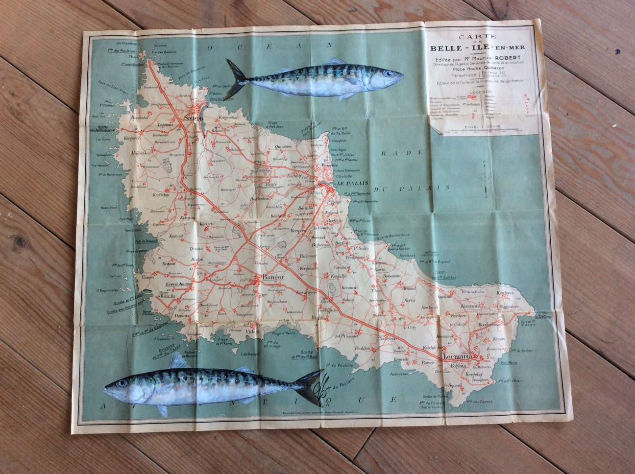Carte touristique de Belle Ile