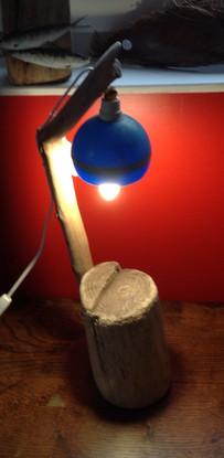 Lampes bois flotté , flotteurs de pêche .. 50 x 18