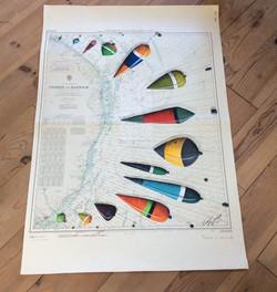 carte bouchons de pêche