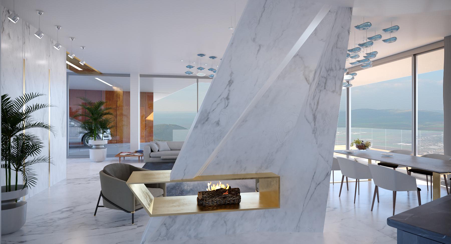 Интерьер гостиной, столовой
