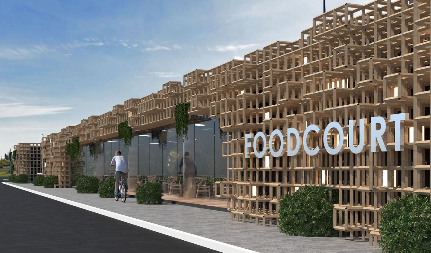 Фудкорт ресторан в Олимпийском парке Сочи