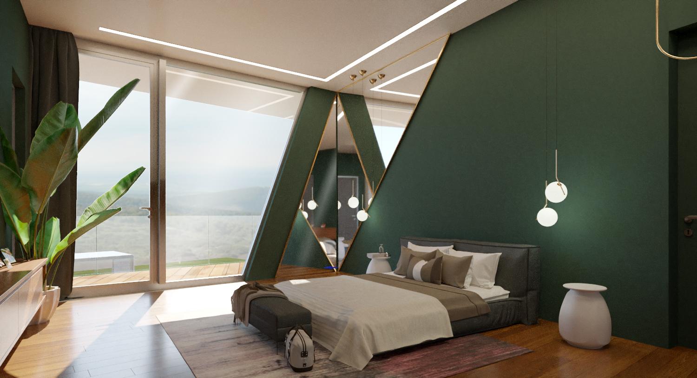Интерьер спальни, кабинета, гостиной, ванной