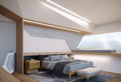 Интерьер спальни, кабинет, ванна