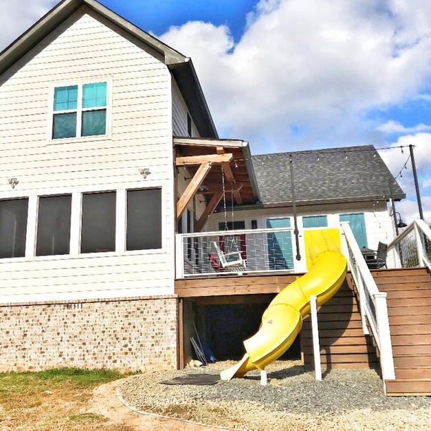 Cabin and Back Deck + Slide