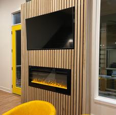 Fireplace/TV wall