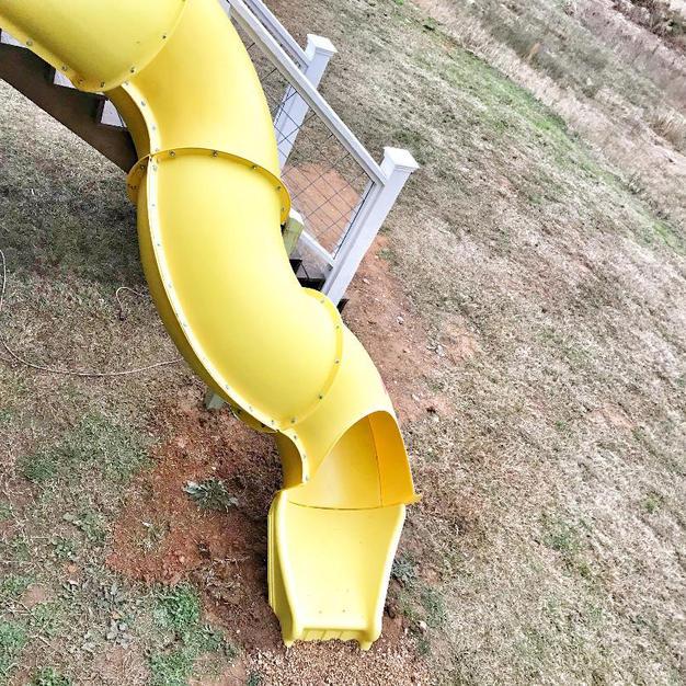 Super Slide off of deck