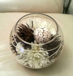 Glass Bowl Floral Design