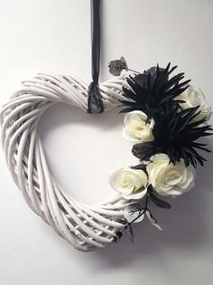 Wooden Heart Floral Design