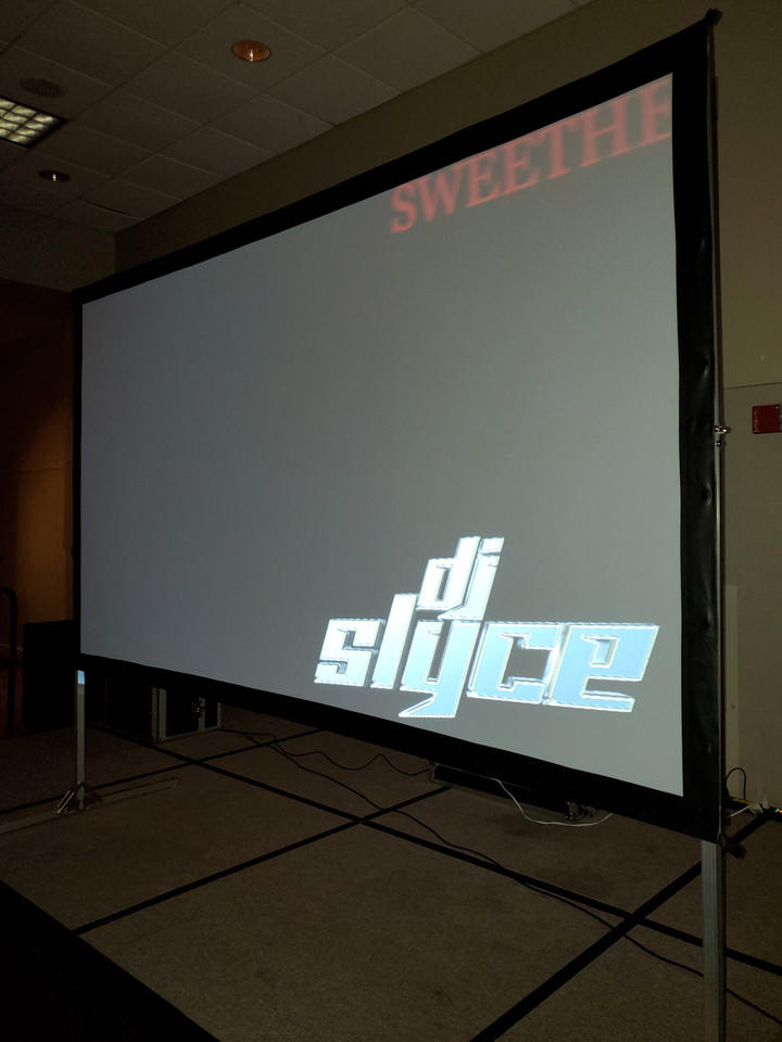 Music Video Projector & Screen - $275.00