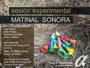 Matinal Sonora - Sesión experimental 15 Sillas