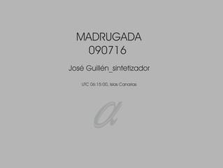 #domesticsounds. Madrugada - José Guillén