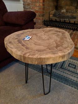 Walnut Trunk Slice Table