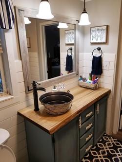 Poplar Bathroom Vanity