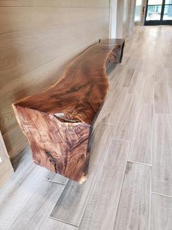 Walnut Waterfall Style Bench built by Mi