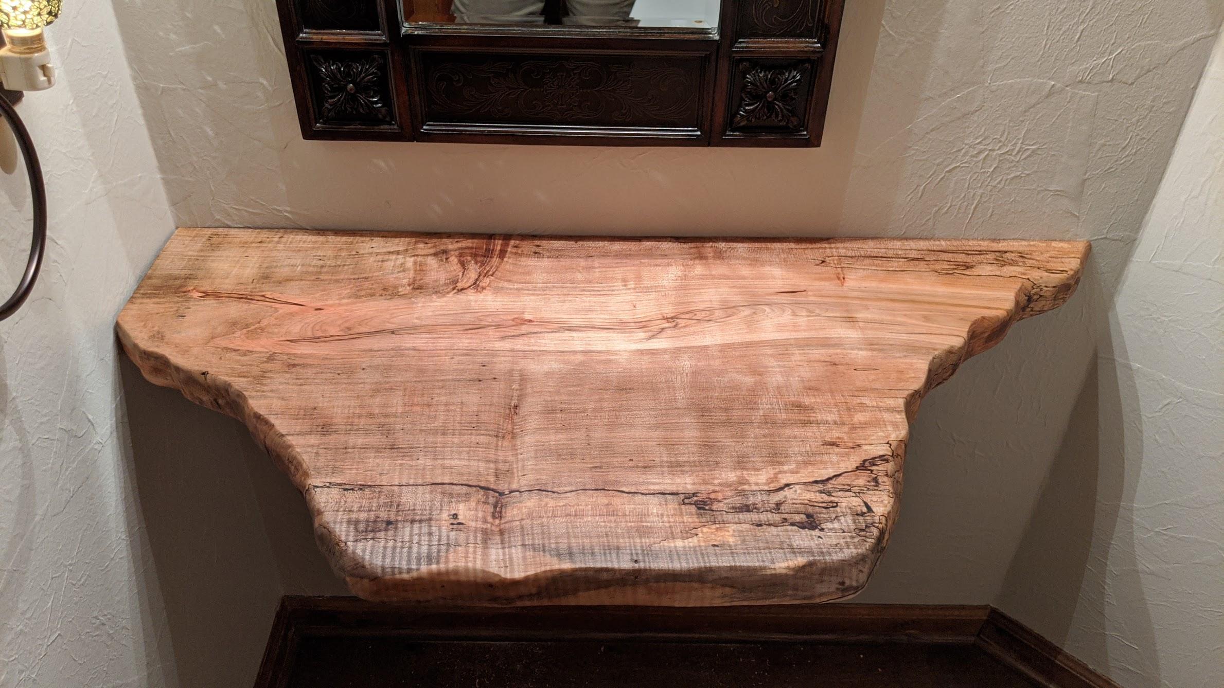 Spalted Maple Bathroom Vanity