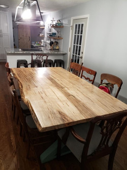 Ambrosia Maple kitchen table top built by one of our most talented builders!