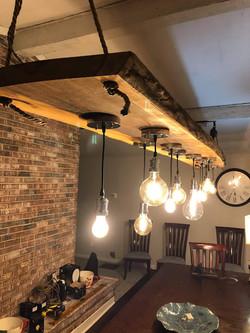 Walnut Slab Light Fixture