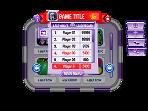UI Leaderboard scoreboard