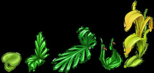 Jungle leaf Item set