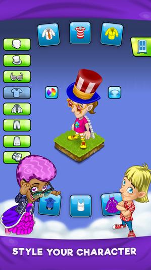 Custom avatar advert
