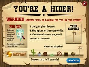 Hide And Seek: Hider Screen