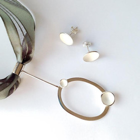 Contemporary Pendant and Stud Earrings - 2018
