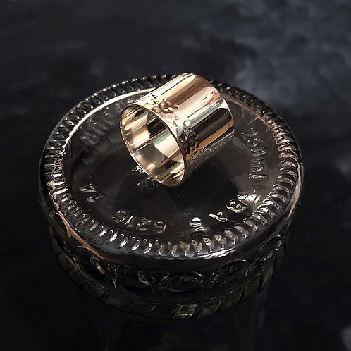 Extra Wide Band Ring - Hammered