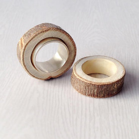 Wood Rings and Extra-Wide Band Ring - 2013