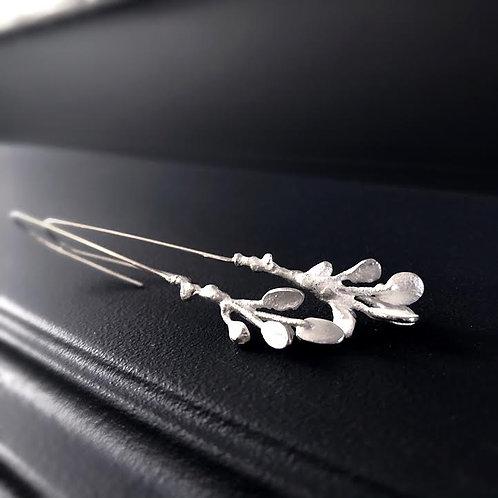 White Branch Earrings - Extra Long