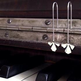 Long Maidenhair Fern Earrings - 2019