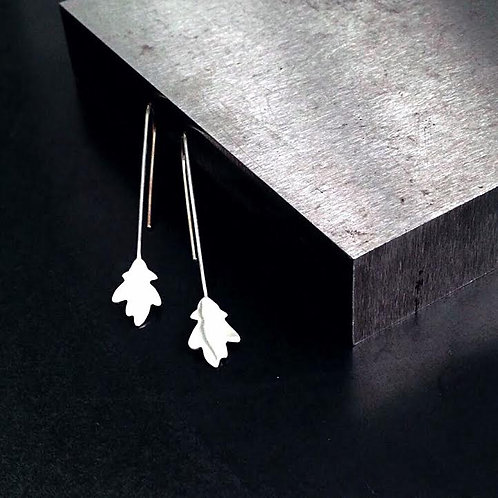 Oak Leaf Earrings - Long