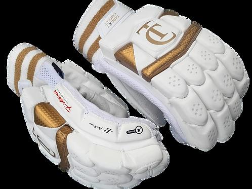 TC - Golden/White Batting Gloves