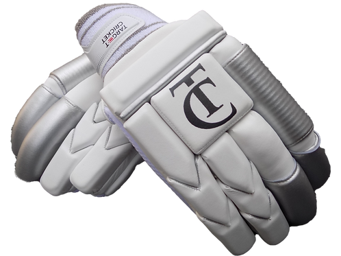 TC - Grey/White Batting Gloves