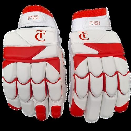 TC - Red/White Batting Gloves