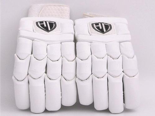 HC Players White Batting Gloves