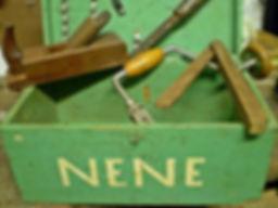 Caixa de ferramentas verde vovô Nenê