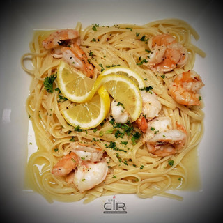 Shimp Scampi Over Fettuccine