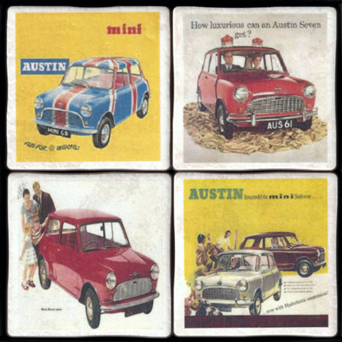 Mini Coasters - Vintage Adverts