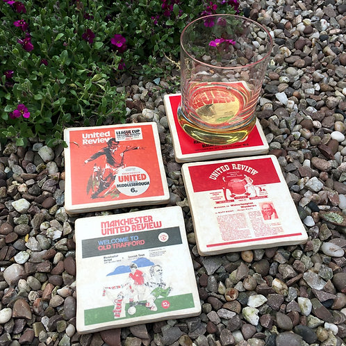 Manchester United Football Coasters