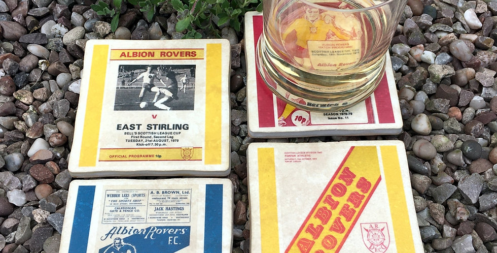 Albion Rovers Football Coasters
