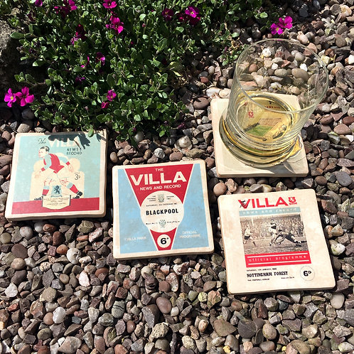 Aston Villa Football Coasters