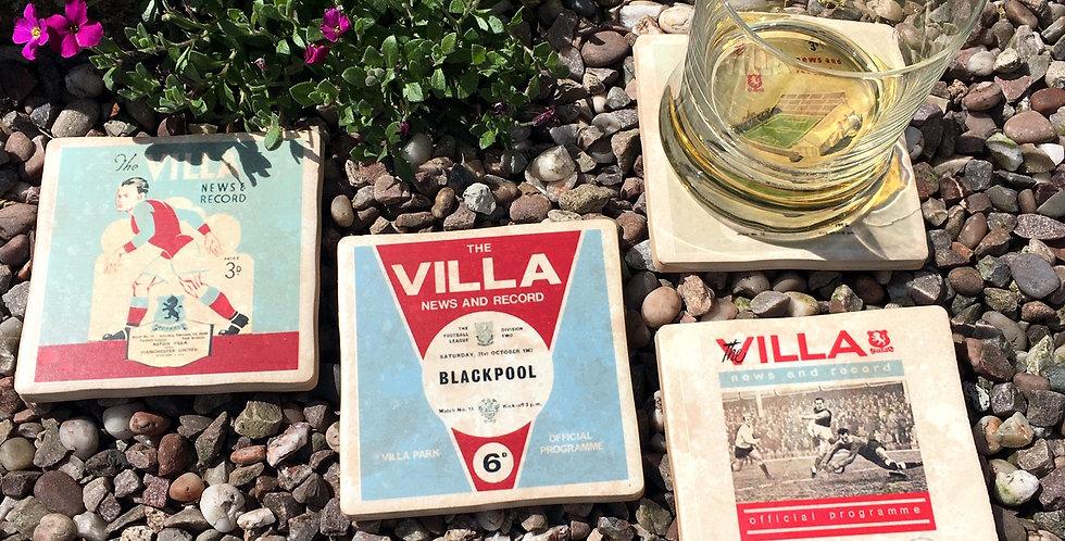 Aston Villa Football Coasters