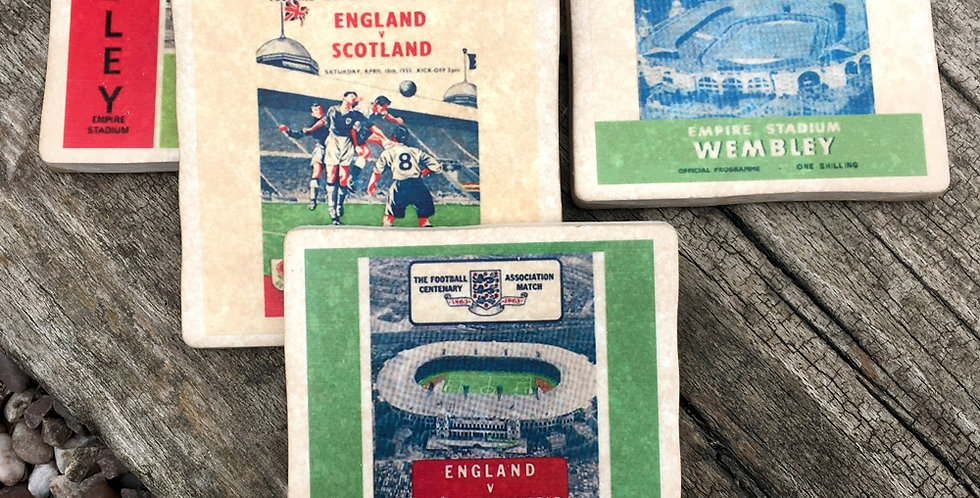 England at Wembley Football Coasters