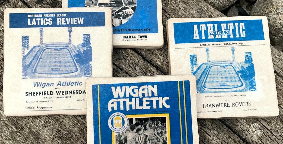 Wigan Athletic Football Coasters