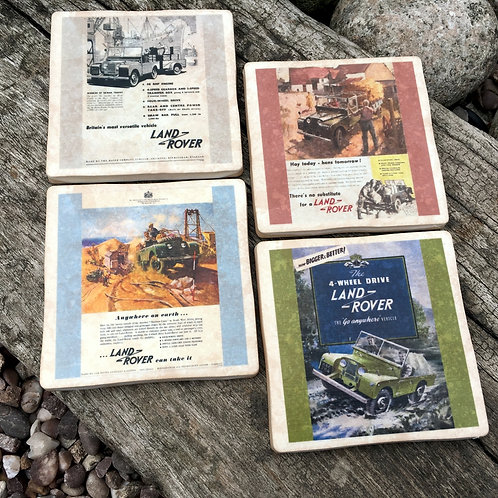 Landrover Coasters - Vintage Adverts