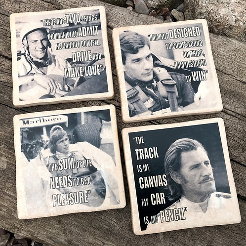 Racing Driver Quotes Coasters