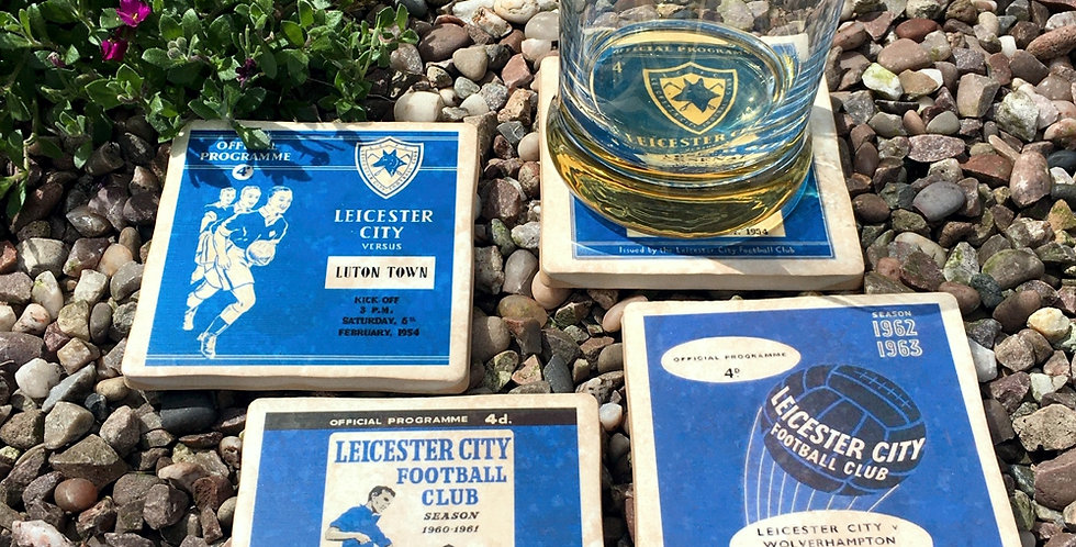 Leicester City Football Coasters