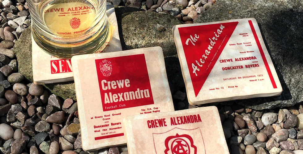 Crewe Alexandra Football Coasters